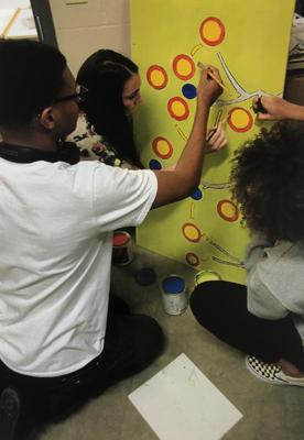 Firestone art students inspired by music